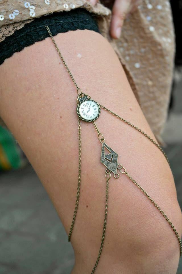 steampunk leg chain