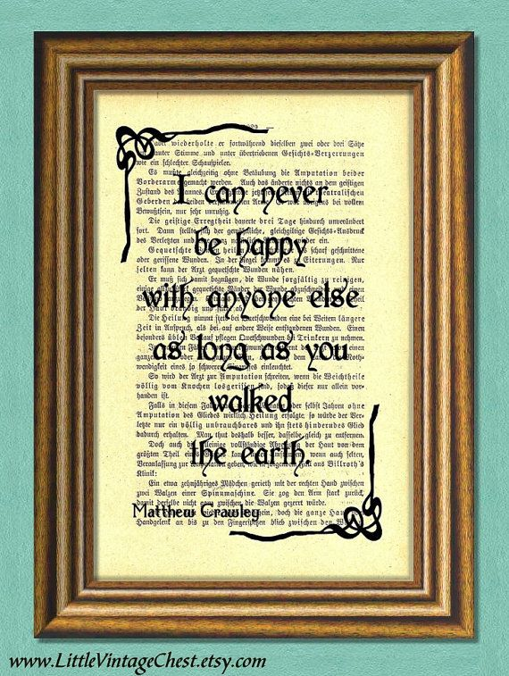 DOWNTON ABBEY Matthew Crawley Quote by littlevintagechest on Etsy, $7.99