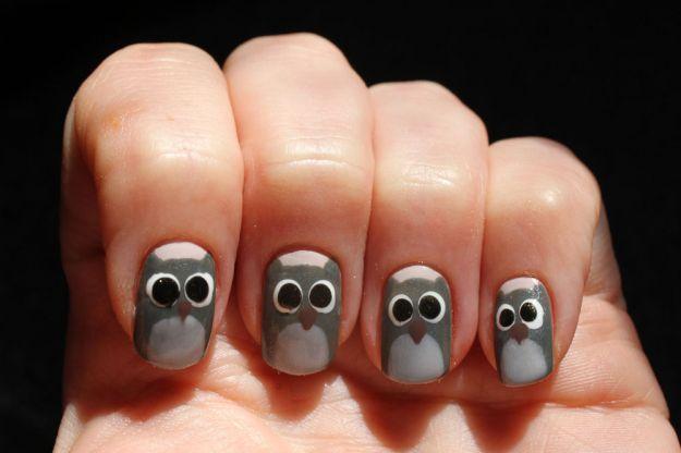 "Маникюр ""Совы"" ::: onelady.ru ::: #nail #nails #nailart #manicure"