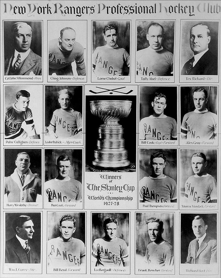 The New York Rangers won their first Stanley Cup in 1928.