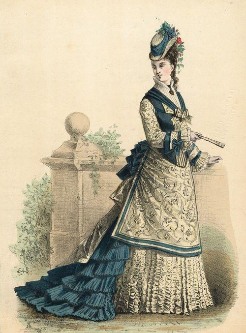 """""""Fashion Plate: July fashion, 1875 France, L'Élégance Parisienne"""""""