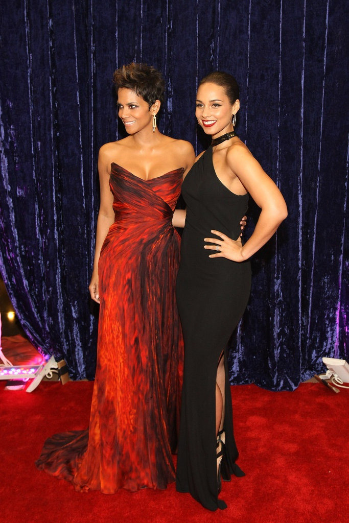 Halle Berry and Alicia Keys at the 2013 BET Honors