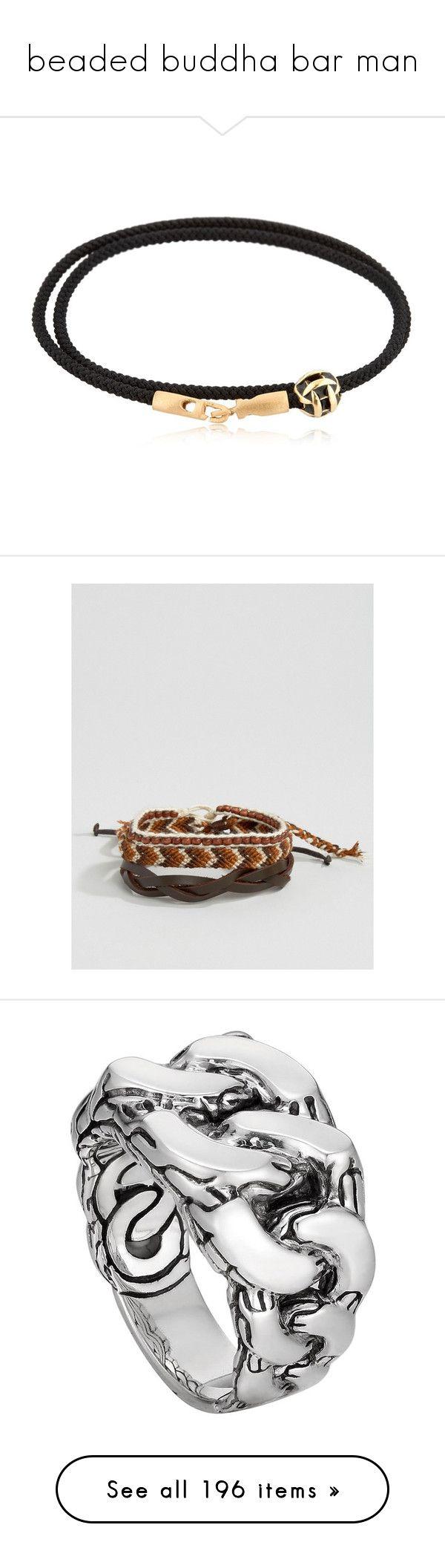 """beaded buddha bar man"" by baileycalifornia ❤ liked on Polyvore featuring men's fashion, men's jewelry, men's bracelets, black, mens cord bracelets, mens bracelets, mens watches jewelry, multi, mens bead bracelets and mens leather braided bracelets"