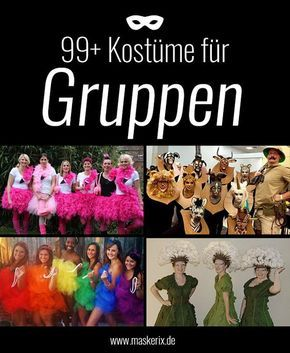 Kostüm Ideen für Paare & Gruppen zu Karneval, Halloween & Fasching