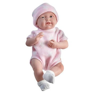 "JC Toys La Newborn 15"" All Vinyl Anatomically Correct Real Girl Newborn Baby Doll - White Star. Made in Spain"
