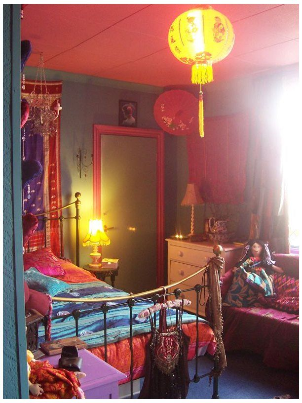 Chinese Umbrella Decor Bedroom Chineseumbrelladecorbedroom Bohemian Hippie Room In 2021 Bohemian Style Bedroom Design Bohemian Style Bedrooms Bedroom Design