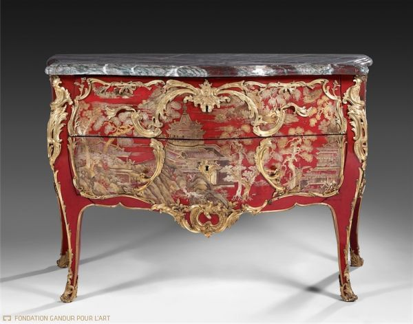 17 best images about lacquered furniture on pinterest queen anne english a - Commode baroque rouge ...