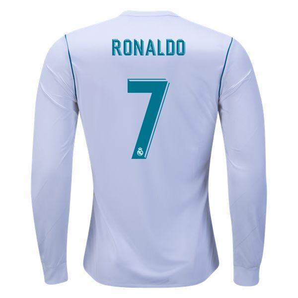 adidas Cristiano Ronaldo Real Madrid Long Sleeve Home Jersey 17/18