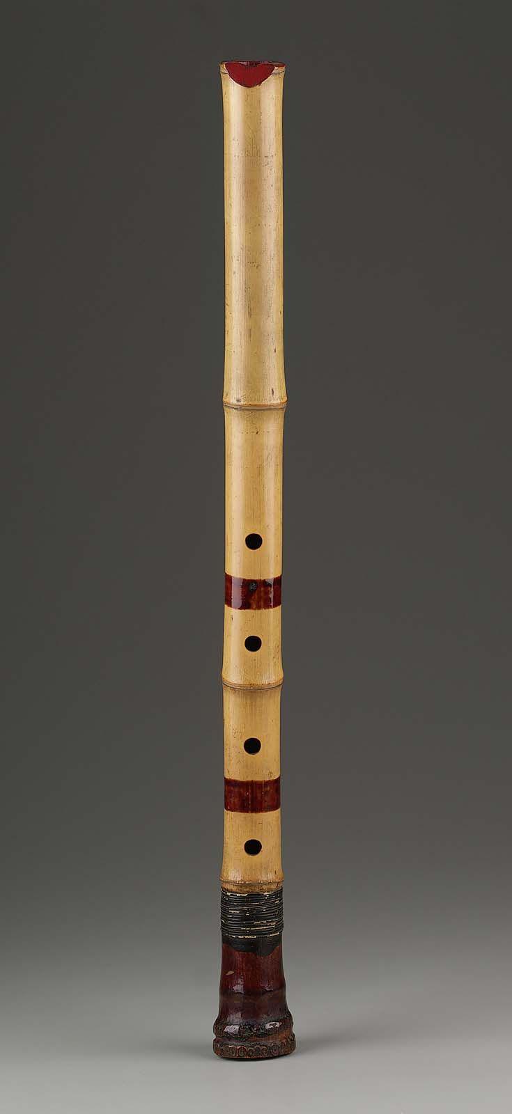 End-blown flute (shakuhachi)   Museum of Fine Arts, Boston