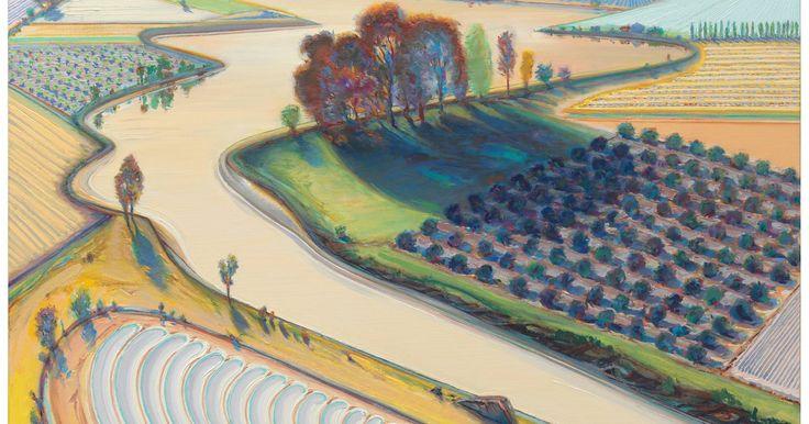 Wayne Thiebaud 'Flatland River' (1997) American Realism