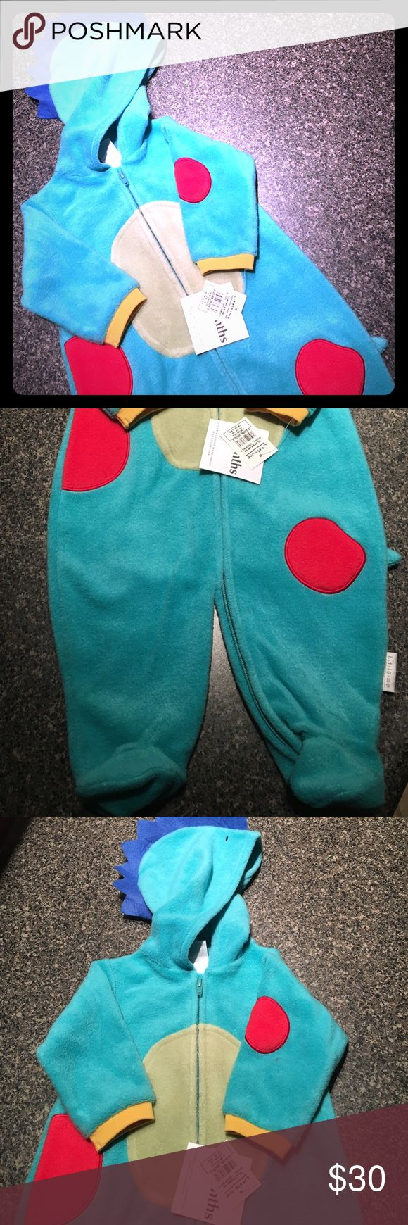 NWT Little Me DYNO-Mite Halloween Costume Sz 9M Brand NEW and Adorable. Very warm and toastie, w/feet. Please feel free to ask questions and ask for measurements... Little Me One Pieces Footies