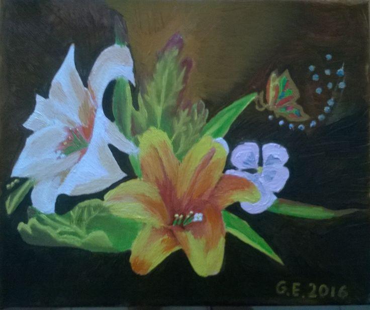 Flowers oil canvas