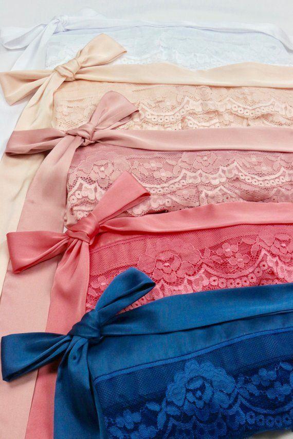 Set of 3 SILK Lace Bridesmaid Robes 217fbd765