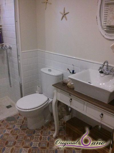 Muebles de baño de estilo Vintage  #Baños con Encanto