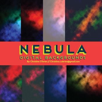 Nebula Digital Backgrounds and Embellishments Set - Christine OBrien