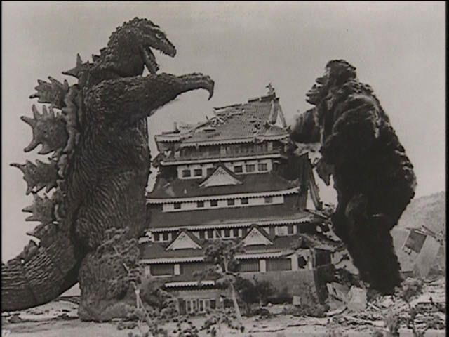 """King Kong Versus Godzilla""~No list of Japanese disaster movies would be complete without Godzilla. Two monster superstars whoop each others' butts in this 1962 classic."