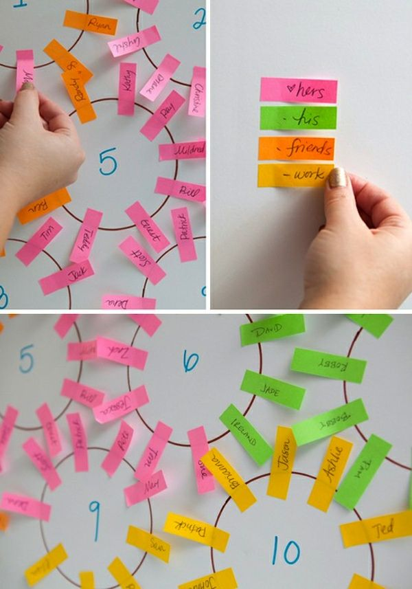 brilliant. SO SMART. Best way to do quick easy simple seating charts. :)
