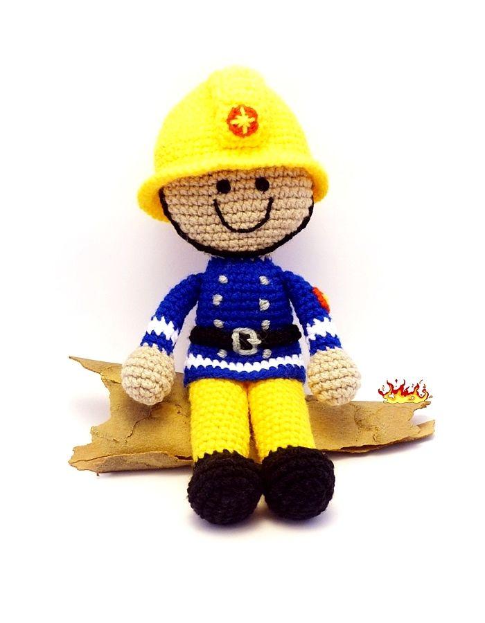 horgolt tűzoltó baba / crochet fireman doll #horgolt #doll # crochet #baba #tűzoltó #fireman