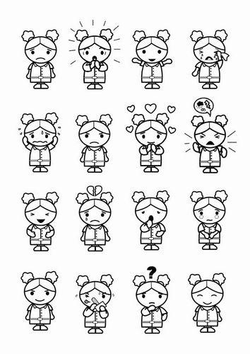 Kleurplaat 16 emoties
