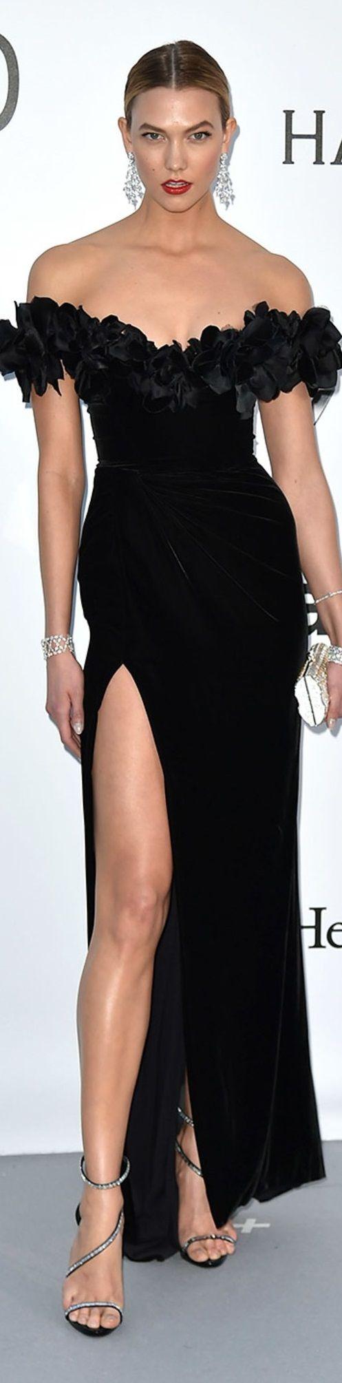 Karlie Kloss in Marchesa dress, Chopard jewels