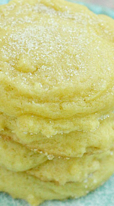 Lemonade Cookies Recipe ~ Lemonade concentrate into the batter - They taste just like lemonade…in cookie form!