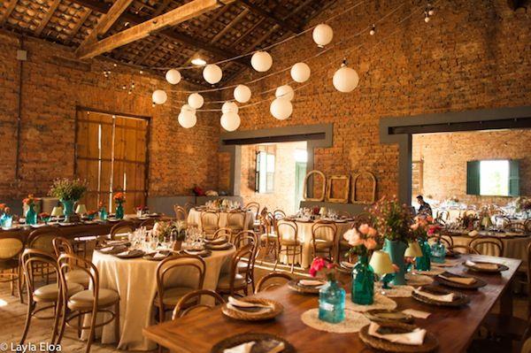 Casamento na fazenda casamento r stico chique - Pared rustica interior ...