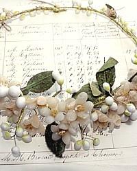 waxed orange blossom antique French bridal wreath
