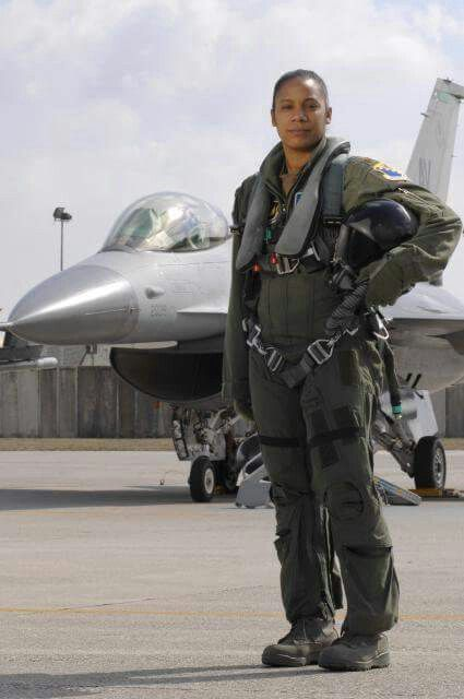 MAJ SHAWANA ROCHELLE KIMBRELL (555th Fighter Squadron) is the first black woman Fighter Pilot in the history of the United States Air Force. She flies the F-16 Fighting Falcon out of Aviano Air Base, Italy. Initially she wanted to be an astronaut, but decided it would be more fun to fly a fighter jet. Up until only 15 years ago, piloting a multi-million dollar, multi-role F-16 combat aircraft was reserved solely for men. Then, in 1993, the Secretary of Defense permitted women to enter…