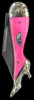 Hot pink lady boot pocket knife...