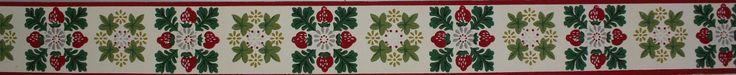 Rosie's Vintage Wallpaper - Trimz Vintage Wallpaper Border Strawberry Square…