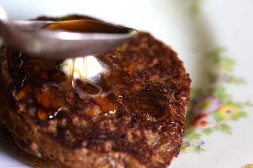 gingerbread pancakes with homemade pancake syrup