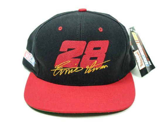 Vintage NASCAR Hat Ernie Irvan 28 90s Snapback by TroyanVintage