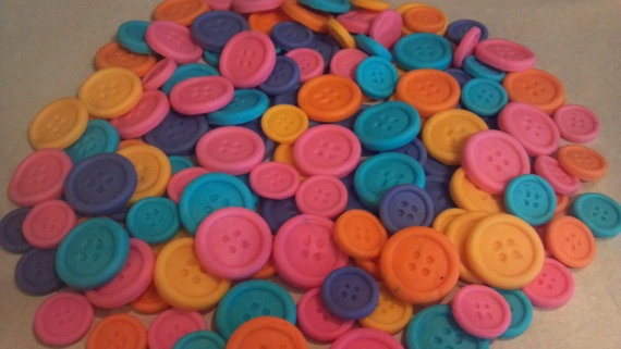 fondant buttons, cupcake toppers, party, lalaloopsy theme, fondant lalaloopsy, buttons, cake decorating, gumpaste, fondant cupcake toppers. $12.00, via Etsy.