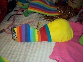 Mis manualidades: Zapato de payaso- como hacerlo