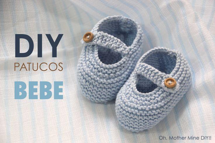 DIY de tejer con dos agujas: como hacer estos patucos tipo zapatos o zapatitos de bebe. Los patrones los tenéis disponibles y gratis en el blog. En este blog...