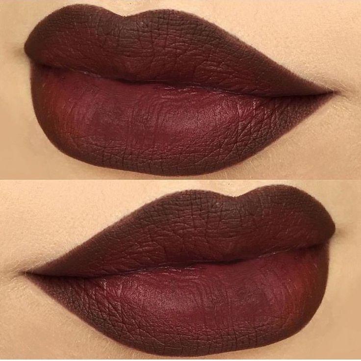 MAC lip liner in Chestnut and MAC Sin