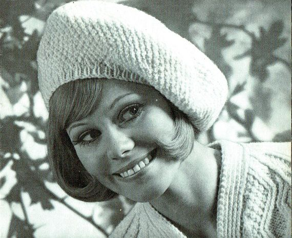 PDF Vintage Ladies Jaunty Beret Knitting Pattern Oversized