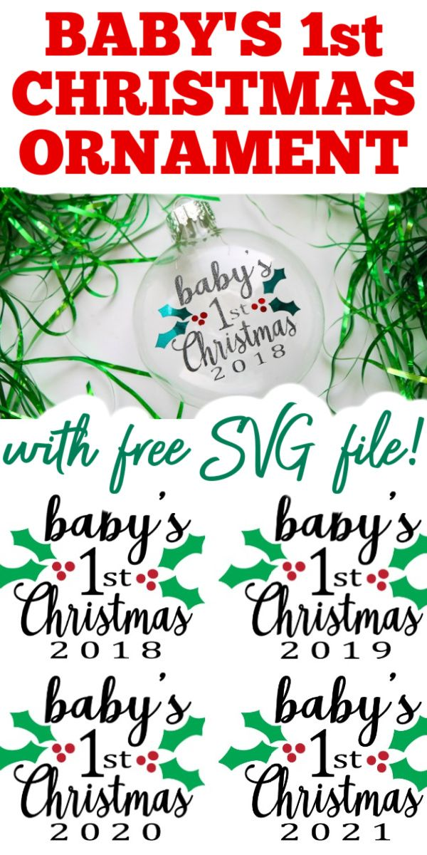 Download Baby 039 S First Christmas Svg Free Background