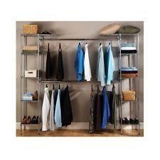 Closet Organizer Storage Rack Clothes Portable Wardrobe Hanger Shelves Home New