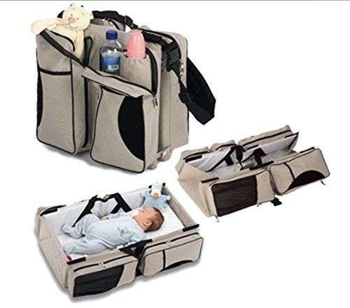 #donation 3-in-1:This easy to carry bag combines a traditional diaper bag with a #portable bassinet and change table! No need for big bulky playpen, folds up eas...