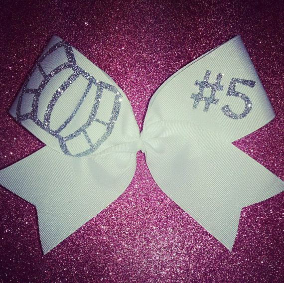 @FOREVER™ Alone Girl  im gnna make us bows like this for volleyball but with our numbers !((: