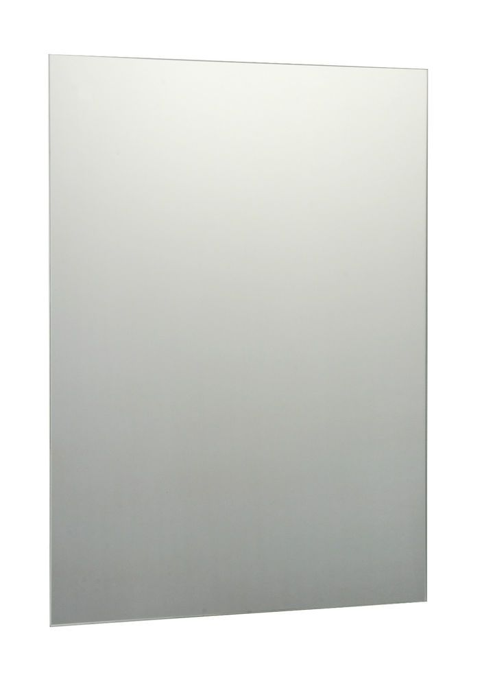 Plain frameless bathroom mirror with wall fixings for Mirror 45 x 60