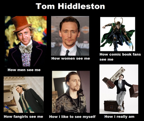 THOSE ARNT ALL TOM HIDDLESTON YOU IDIOTIC TWITS! WILLY WONKA WAS PLAYED BY JEAN WILDER YOU BLOODY MORONS!