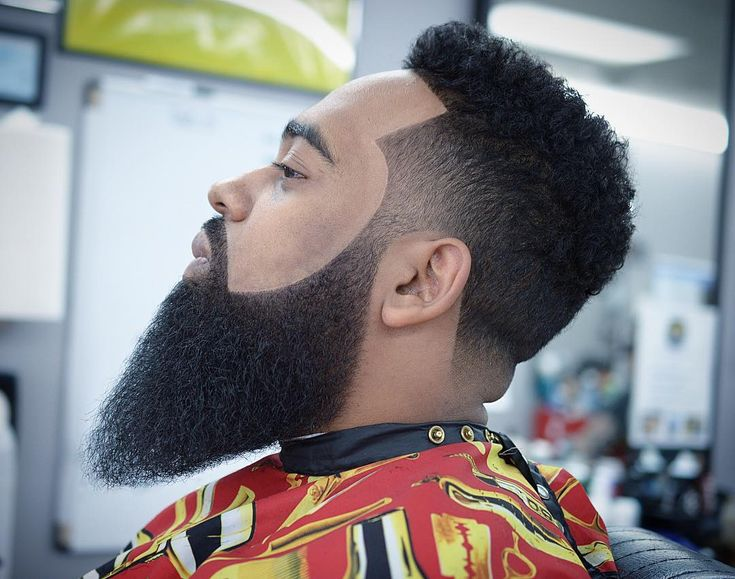 Medium Length Beard style for black men