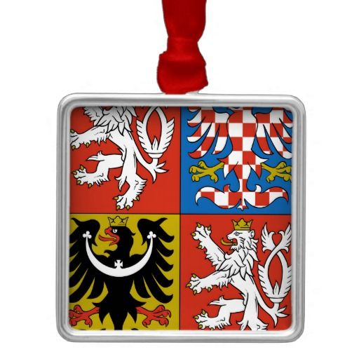 Czech Republic Coat Of Arms Christmas Tree Ornaments