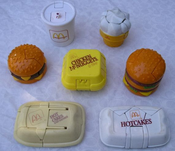 Remember these? 80's McDonalds Transformers food toys