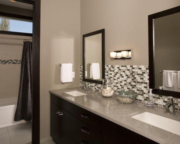Simple Bathroom Backsplash Vanity Backsplash Stylish Bathroom Backsplash Bathroom vanity backsplash or not