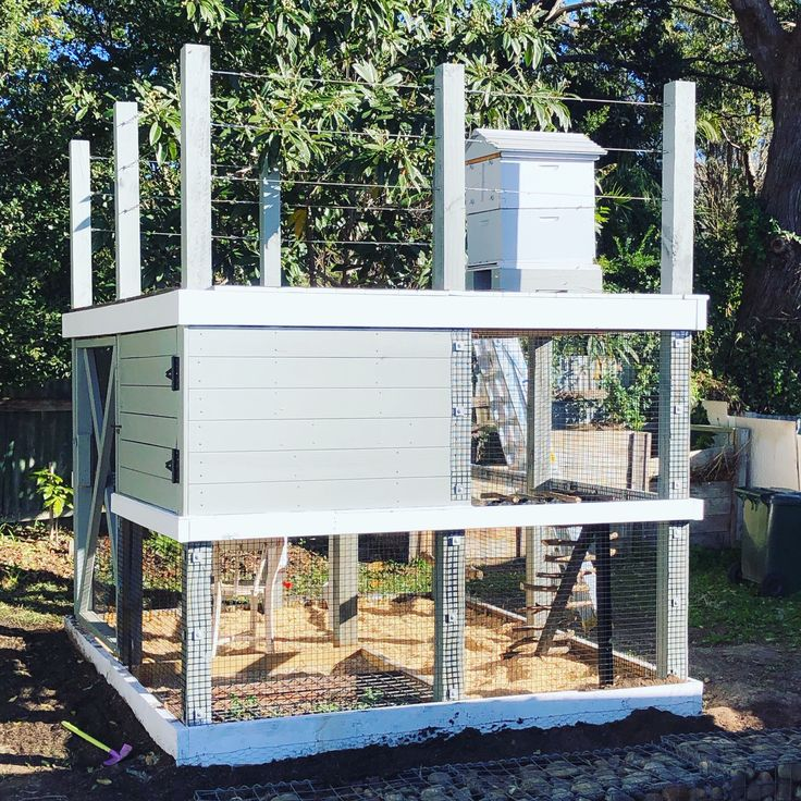 We have finished building this great coop where the roof