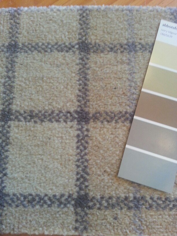 Better photo of the tartan carpet