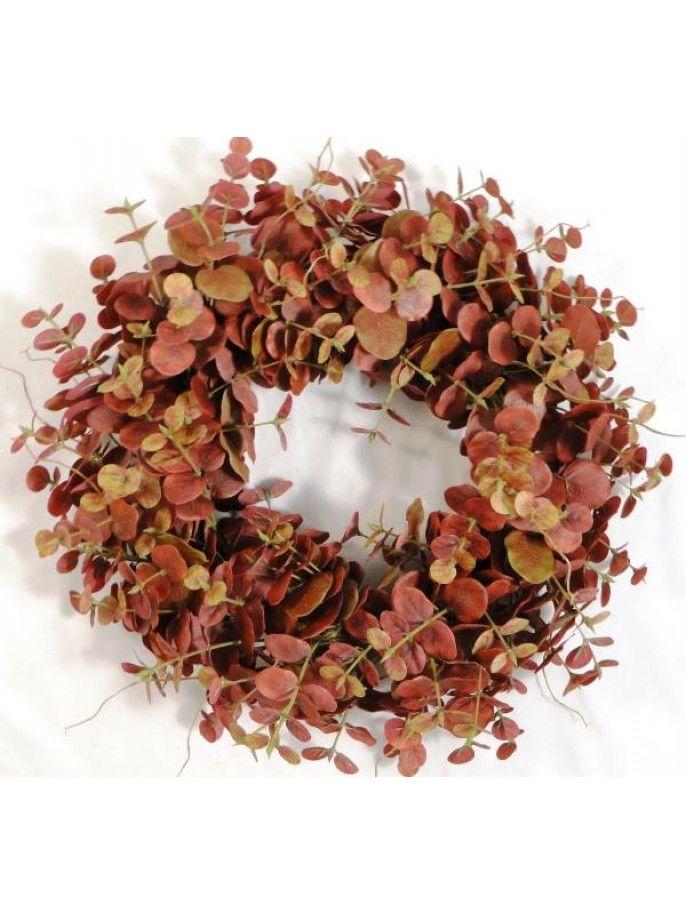 Wreath Eucalyptus - Red #autumn #leaves